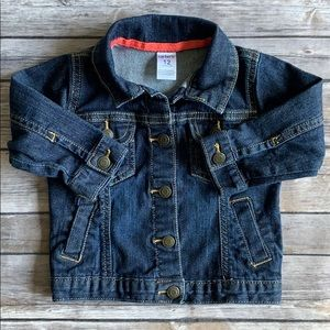 Carter's Baby Girl Jeans Jacket size 12M
